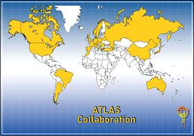Countries collaborating on the ATLAS project