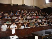 Students in the Maxwell Lecture Theatre (July 2007)