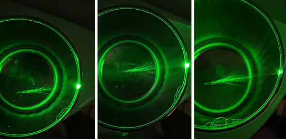 Experimental Images of Branched Flow of Light Waves